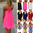Women Beach Dress Bikini Cover Up Kaftan Holiday Long Tops Dress Bathing Suit O6