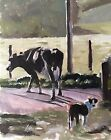 Rural Scene Cow Art PRINT Wall Art from original oil painting by J Coates 341