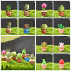 Succulent Potted Figurines Cactus Bonsai Resin Plants  Flower Miniature