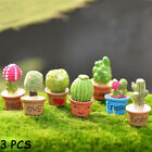 Resin Plants  Succulent Potted Figurines Flower Miniature Cactus Bonsai