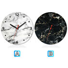 Marble White Black Wooden Wall Clock Modern Home Office Decor