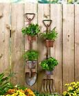 Rustic Garden Tool Planters Novel Way Display Flowers Greenery Traditional Style
