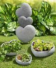Blessed Heart Stone Garden Decor Lawn Statues Showing Flowers Decorative Accents