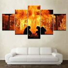Fire Fighter Job Passion Art 5 Pieces Canvas Wall Home Decor Poster Artwork