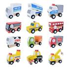 12pcs Wooden Car Set Cute Wood Baby Toy Wooden Traffic Toys Set Wood Plane Kit Q