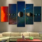 Solar System Universe Planets 5 Pieces Canvas Wall Decorating Poster Home Decor