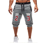 NEW Jordan 23 Shorts  Jogger Knee Length Sweatpants Man Fitness Drawstring Short