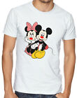 Disney Mickey Minnie Mouse Red Nose Couple Cartoon Men Women Unisex T-shirt 2801