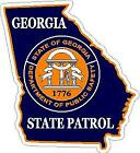 Georgia State Patrol Reflective Vinyl Decal Sticker Trooper Sheriff Police Ga