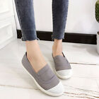 Women Men Unisex Canvas Trainer Shoes Slip On Casual Shallow Flat Sport Sneakers