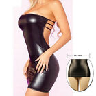 Sexy Latex Rubber Catsuit Wet Look Dress Sexy Nightwear PVC Leather Size M - XXL