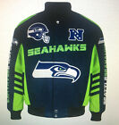 Seattle SEAHAWKS Men's DEFENDER Cotton Twill Jacket by G-III - NFL Licensed