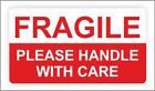 Fragile Stickers | Postal Sticker | Please Handle With Care Self Adhesive Label