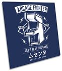 Arcade Fighter Gaming Picture CANVAS WALL ART Square Print