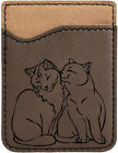 Purrfect Love Laser Engraved Leather Phone Wallet