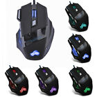 5500DPI LED Optical USB Wired Gaming Mouse 7 Buttons Gamer Computer Mice 7-Color