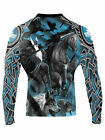Raven Fightwear Men's The Gods of Scandinavia Odin Nordic Rash Guard MMA BJJ
