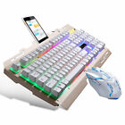 Gaming Multi-Color LED Changing Backlight Keyboard and Mouse Set for PS4 Xbox PC