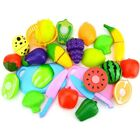 Pretend Role Play Kitchen Fruit Vegetable Food Toy Cutting Kids Playset 4-18pcs