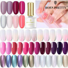 BORN PRETTY 6ml Soak Off UV Gel Nail Polish Jelly Pink Pearl Glimmer Gel Varnish