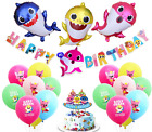 Baby Shark Balloon Decoration Supplies Party Bracelet Cake Topper Banner Cupcake