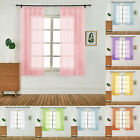 1x Tulle Door Window Curtain Solid Color Drape Panel Sheer Scarf Valances 40*50""