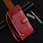 For OPPO F11 Pro A7 2018 Luxury Zipper Wallet Flip Phone Bag Leather Case Cover