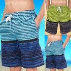 Fashion Men's Colortful Striped Surf Swim Trunks Beach Board Shorts With Lining