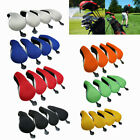 4Pcs Golf Club Head Covers Replacement Driver Headcover Wood Zip UK