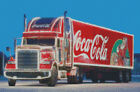Cross stitch chart, pattern. Coca Cola, Christmas, Freightliner, Truck, Coke, $16.5  on eBay