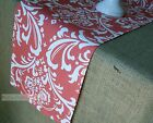 Coral Damask Floral Table Runner Kitchen Home Decor Linens Table Centerpiece