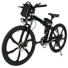 26 inch Men Boys Foldable Electric Power Aluminum Alloy Mountain Bicycle US
