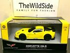 Braha Chevy Corvette C6.R Friction Race Car Yellow 1:24 Scale 866-82417