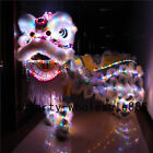 Chinese Folk art Lion Dance mascot Costume led light wool Southern for two adult