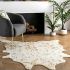 nuLOOM Animal Prints Iraida Faux Area Rug in Off-White