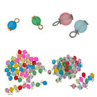 50Pcs Multicolor Frosted Glass Charms Loose Beads Pendant Jewelry DIY Craft