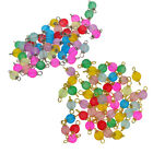 50x Multicolor Frosted Glass Charms Loose Beads Pendant Jewelry DIY Crafts