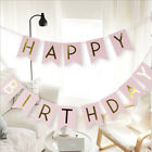 Happy Birthday Banner Gold Letter Paper Flag Birthday Party Decorations
