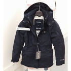 ABERCROMBIE & FITCH WOMENS ALL-SEASON WEATHER WARRIOR PARKA NAVY SIZE MEDIUM A&F