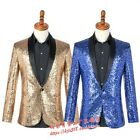 Men Costume Coats Shawl Collar Slim Solid Youth Singer Party Blazer Jackets New