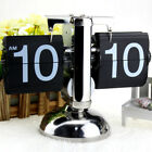 Retro Clock Stylish Modern Auto Flip Desk Table File Down Page Single Scale Gift