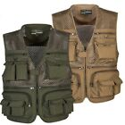 Men Multi Pocket Plus Size Outdoor Vest Photography Fly Fishing Quick-Dry Jacket