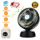 "8"" Desk Fan Silent 360° Oscillating Portable Silent Cooling Fan Air Conditioner"