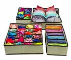4 Set Underwear Box Bra Socks Tie Divider Closet Organizer Storage Box Container