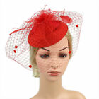 Womens Sinamay Fascinator Cocktail Party Hat Wedding Church Kentucky Derby Dress