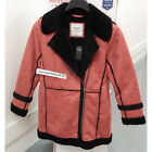 ABERCROMBIE & FITCH WOMENS FAUX SHEARLING PARKA COAT JACKET RED SIZE S,M,L