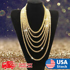 18K Gold plated iced Out Chain Diamond Tennis Choker Men HipHop Necklace 1 Row