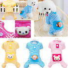 Pet Dog Puppy Pajamas Outfits Clothes Apparel Striped Small/Medium/Large Dogs