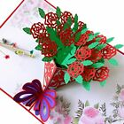 3d Pop Up Greeting Card Fathers Day Dad Anniversary Love Rose Flower Gift Thank