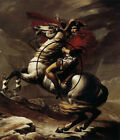 Bonaparte, calm on a fiery steed, by Jacques-Louis David  fine art on canvas